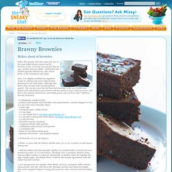 The Sneaky Chef: Free Healthy Recipe for Brawny Brownies from How to Cheat on Your Main (In the Kitchen!)
