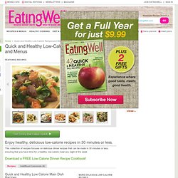 Quick and Healthy Low-Calorie Recipes and Menus