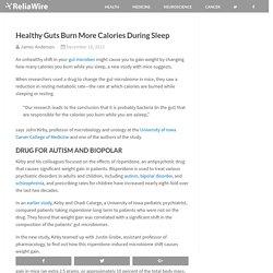 Healthy Guts Burn More Calories During Sleep