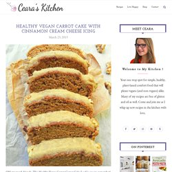 Healthy Vegan Carrot Cake with Cream Cheese Icing