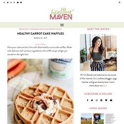 Healthy Carrot Cake Waffles - The Healthy Maven