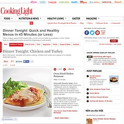 Healthy Dinner Recipe: Oven-Fried Chicken Parmesan < Quick and Easy Chicken Recipes for Dinner Tonight