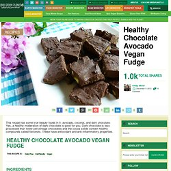 Healthy Chocolate Avocado Vegan Fudge