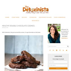 Healthy Double Chocolate Cookies
