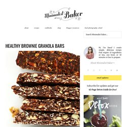 Healthy Chocolate Granola Bars