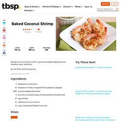 Healthy Baked Coconut Shrimp and Baked Coconut Shrimp Recipe