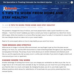 5 Tips to Work from Home and Stay Healthy