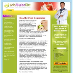 Healthy Food Combining « Alkaline Foods & Alkaline Diet