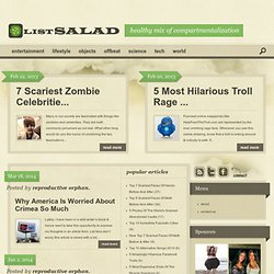 List Salad | Healthy dose of compartmentalization