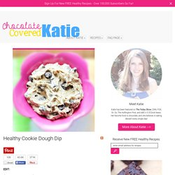 Healthy Cookie Dough Dip... the famous recipe!