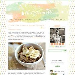 Healthy Crock Pot Banana Bread Quinoa