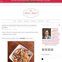 healthy, crockpot mexican-style chicken & quinoa