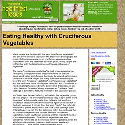 Eating Healthy with Cruciferous Vegetables