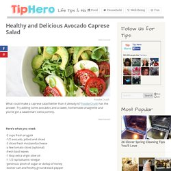 Healthy and Delicious Avocado Caprese Salad