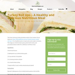Turkey Roll Ups – A Healthy and Delicious Nutritious Meal