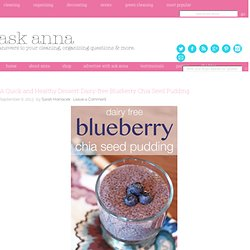 A Quick and Healthy Dessert: Dairy-free Blueberry Chia Seed Pudding