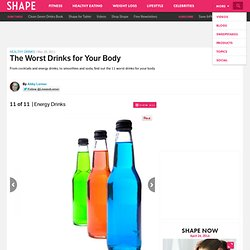 Energy Drinks - Healthy Drinks: The Worst Drinks for Your Body