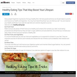 Healthy Eating Tips That May Boost Your Lifespan