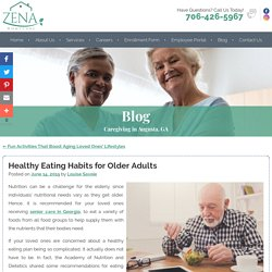 Healthy Eating Habits for Older Adults