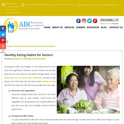 Healthy Eating Habits for Seniors