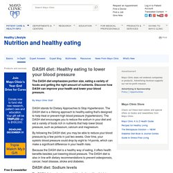 DASH diet: Healthy eating to lower your blood pressure