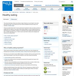 Healthy eating - information from Bupa on healthy eating