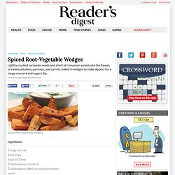 Healthy Eating: Spiced Root-Vegetable Wedges Recipe
