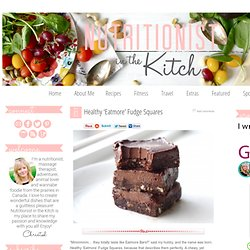 Healthy 'Eatmore' Fudge Squares @ Nutritionist in the Kitch