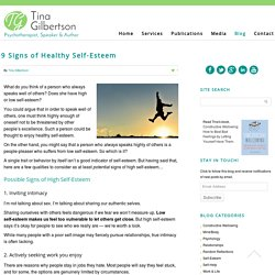 9 Signs of Healthy Self-Esteem - Tina Gilbertson