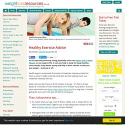 Healthy Exercise Advice - Weight Loss Resources