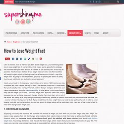 how to lose weight fast ana