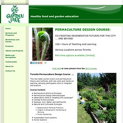 Healthy food and garden education