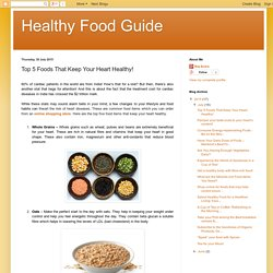 Healthy Food Guide: Top 5 Foods That Keep Your Heart Healthy!