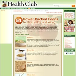 51 Healthy Foods To Eat For Healthy Living