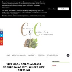 Healthy Thai Glass Noodle Salad ( Yum Woon Sen )