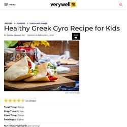 Healthy Greek Gyro Recipe for Kids