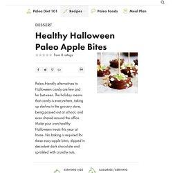 Healthy Halloween Paleo Apple Bites - Paleo Grubs