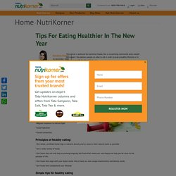 Eating Healthier Tips - TATA Nutrikorner