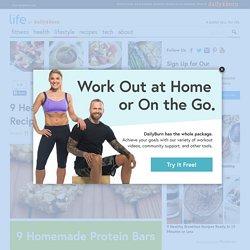 9 Healthy Homemade Protein Bar Recipes
