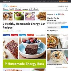 9 Healthy Homemade Energy Bar Recipes