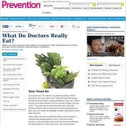How to Eat Healthy Like a Doctor