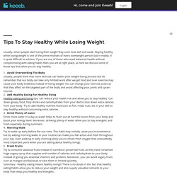 Tips To Stay Healthy While Losing Weight < Douknow - bog < Robert Vaughan - Keeeb