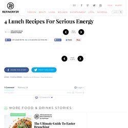 Healthy Lunch Recipes - Filling, Easy, High Energy