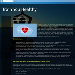 Train You Healthy: Managing High Cholesterol