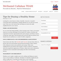 Tips for Buying a Healthy Home - McDaniel Callahan TEAM