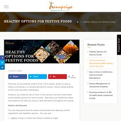 Healthy Options for Festive Foods