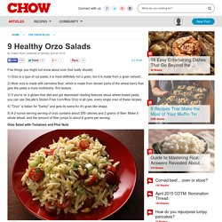 9 Healthy Orzo Salads - Food News -