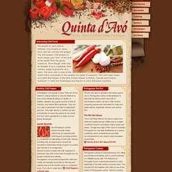 Quinta d'Avo, Healthy Chili, Chili Peppers, Piri-Piri, Portuguese Cuisine