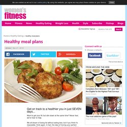 Healthy meal plans
