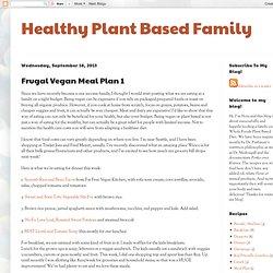 Frugal Vegan Meal Plan 1